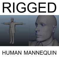ma rigged human male mannequin