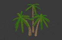beautiful palm tree 3ds