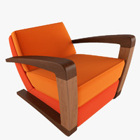 3ds max kustom armchair chair