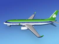 boeing 737-800 737 3d lwo
