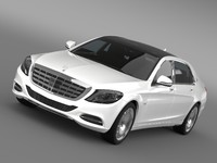 3d model mercedes maybach s600 x222
