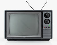 3d model retro tv toshiba blackstripe