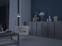 free room study 3d model