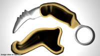 3ds max karambit double edge
