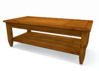 Wood Coffee Table - Brown