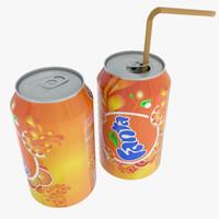 3d model soda seven drinks