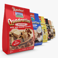3d loacker quadratini wafers set