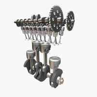 3d model motor engine