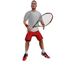 rigged tennis player 3 3d max