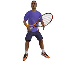 3ds max rigged tennis player