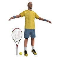 tennis player 2 3d max