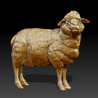 sculpture sheep 3ds