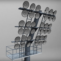 stadium lights 3d model