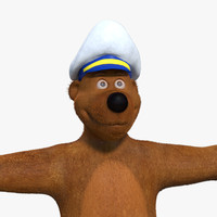 cartoon bear rigged 3d obj