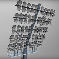 3d model stadium lights