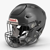 riddel speedflex helmet black 3ds
