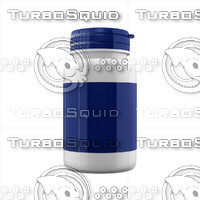 supplement bottle 3d x