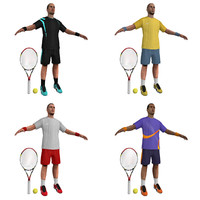 tennis players 3d x