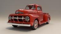 1951 f1 pickup truck 3d fbx
