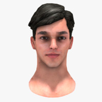 Low Poly Male Head