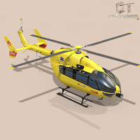 3d ec145 air ambulance model