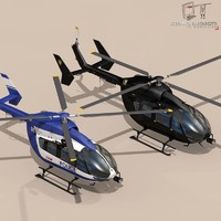 ec145 law enforcement 3d c4d