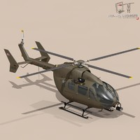 3d model uh72 lakota