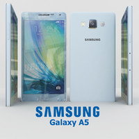 samsung galaxy a5 cyan 3d model