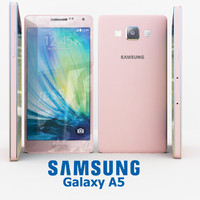 3d model samsung galaxy a5 pink
