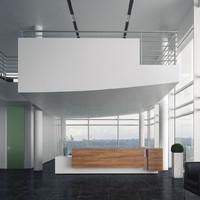 interior scene reception 3d model