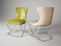 3d paloma chair baxter model