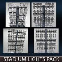 pack stadium lights lux 3d model
