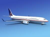 boeing 737-800 737 3d obj