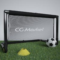 Portable Soccer Goal with Ball and Cone