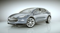 3d 2015 tesla x modeled