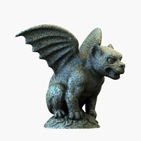 3d gargoyle dog model
