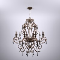 Acanthlus Crystal Bronze Chandelier