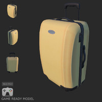 3d model gen suitcase travel bag