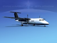 3ds max dhc-8-100 dash 8