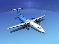 3d model dehavilland 8 dhc-8 dhc-8-100
