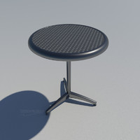 60cm stainless steel table 3d model