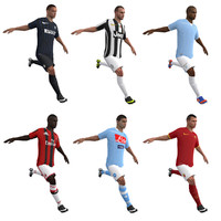3ds max rigged soccer players