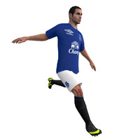 rigged soccer player animations 3d max