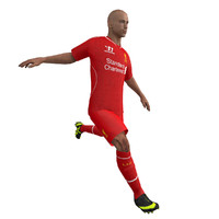 fbx rigged soccer player body