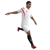 3d max rigged soccer player