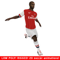 thierry henry arsenal ball soccer 3d model