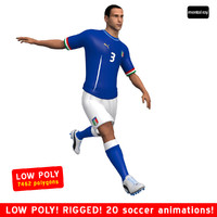 3dsmax soccer player italy animations