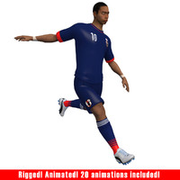 3d max soccer player japan