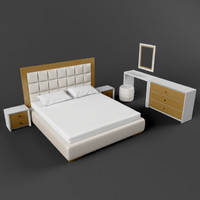 bedroome modern bed 3d model