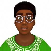 3d model boy african